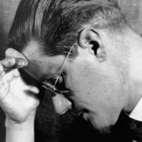 ca. 1910s --- James Joyce in Pensive Pose --- Image by © CORBIS