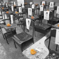 Ayotzinapa-bancas