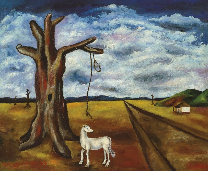 Maria-Izquierdo_paisaje-caballo-arbol