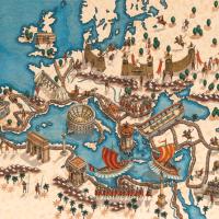 Roma-mapa-ilustrado