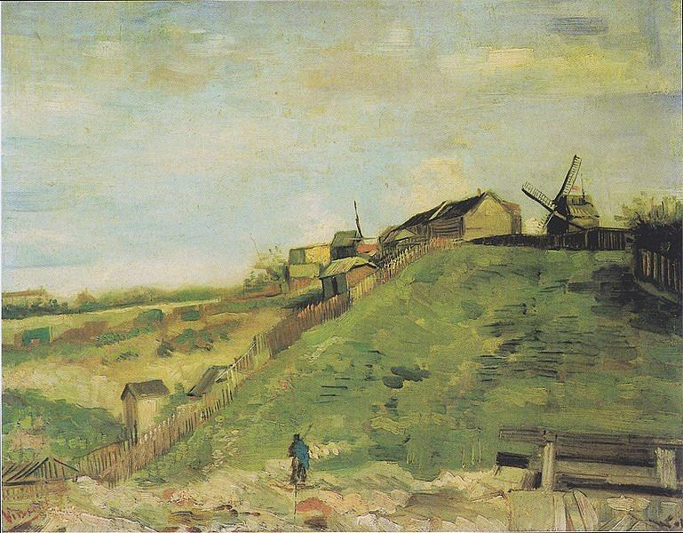 Van-Gogh_the-hill-of-montmartre_1886